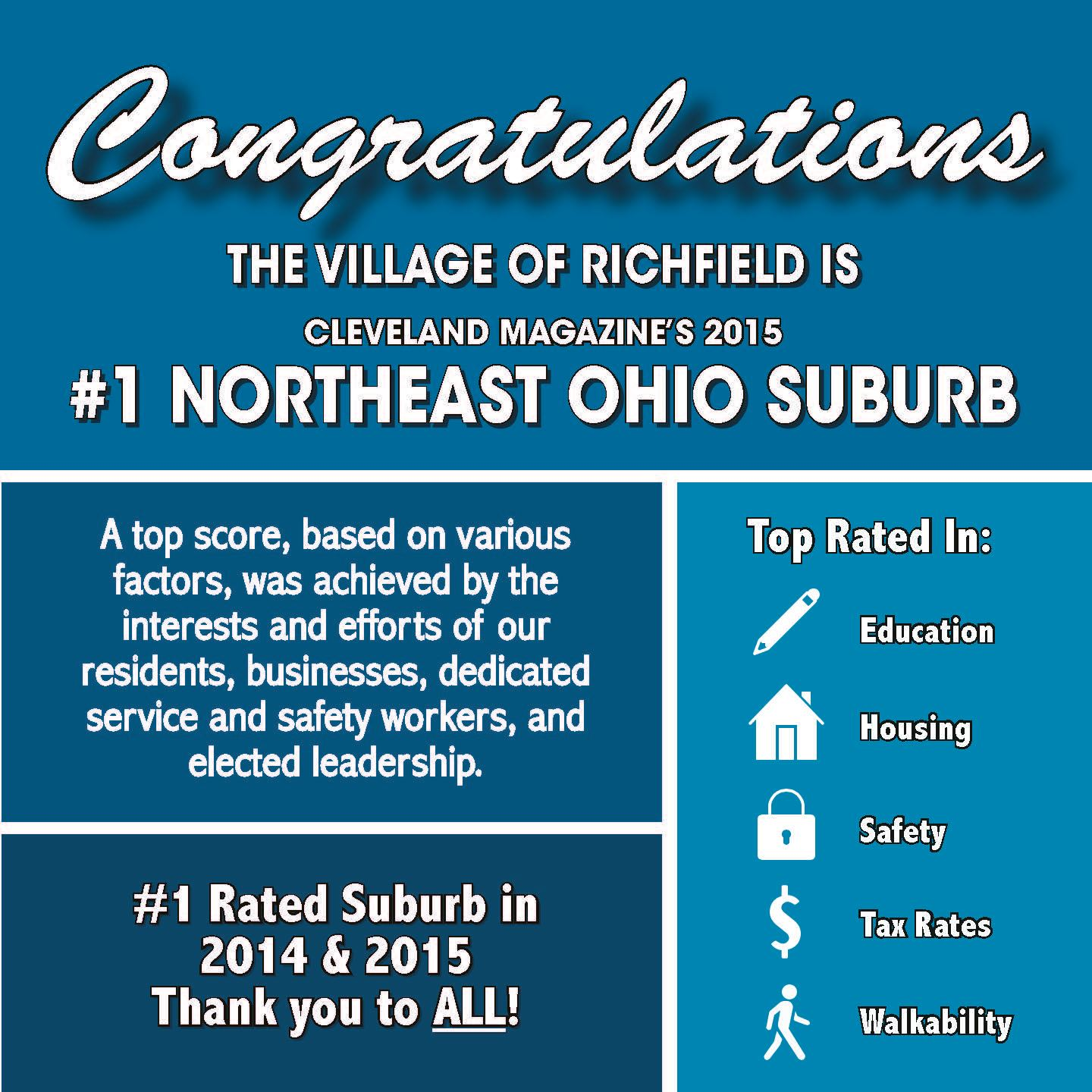 Richfield Times Number 1 Ohio Suburb